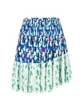 Kenzo Floral Leaf mini skirt - Blue