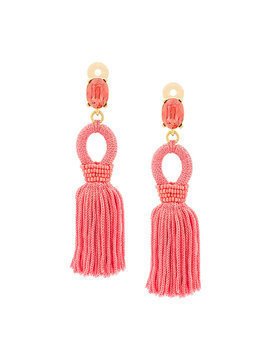 Oscar de la Renta tassel drop earrings - Pink & Purple