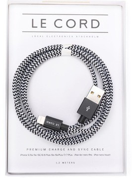 Le Cord Premium charge and sync Apple cable - Black