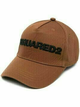 Dsquared2 logo-embroidered cap - Brown