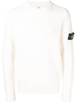 Stone Island crew neck sweater - White