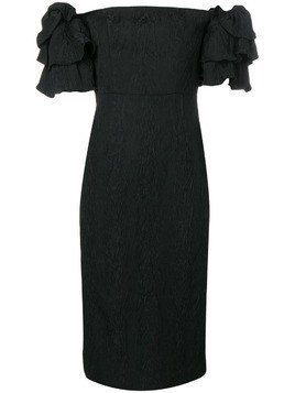 Alexa Chung puff sleeve dress - Black