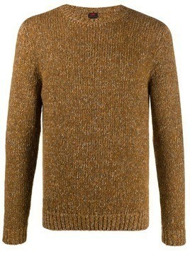 MP Massimo Piombo melange crew-neck jumper - Brown