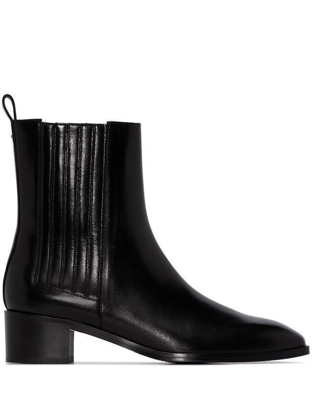 aeyde elasticated panel 40mm Chelsea boots - Black