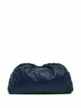 Mansur Gavriel Cloud leather clutch bag - Blue