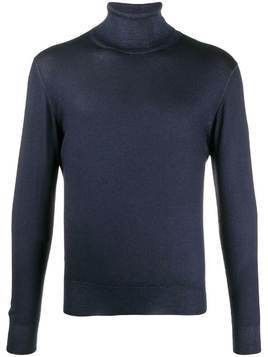 Lamberto Losani turtleneck slim-fit jumper - Navy