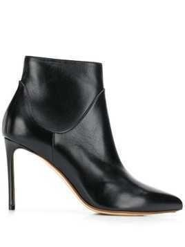 Francesco Russo pointed ankle boots - Black