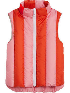 Burberry Kids striped down gilet - Pink & Purple