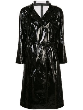 Alexa Chung wet-look trench coat - Black