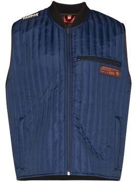 Willy Chavarria thermo quilted vest - Blue