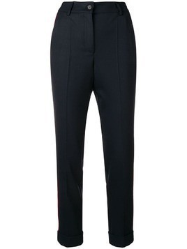 P.A.R.O.S.H. high waisted tapered trousers - Blue