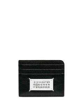 Maison Margiela logo patch cardholder - Black