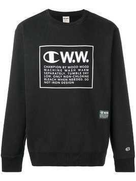 Champion X Wood Wood logo printed sweatshirt - Black