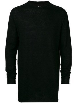 Rick Owens back pleated sweater - Black
