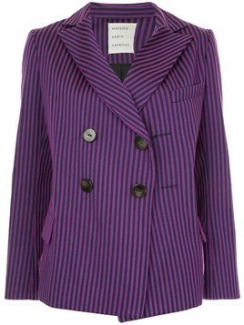 Maison Rabih Kayrouz striped double breasted blazer - Purple