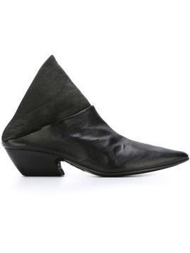 Marsèll pointed toe panelled mules - Black