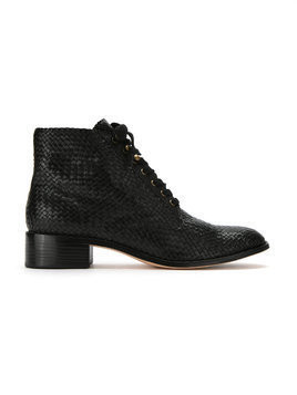 Sarah Chofakian leather ankle length boots - Black