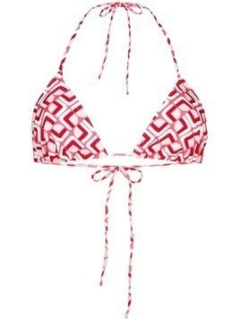 La Doublej Domino Valentino bikini top - Red