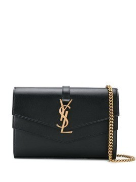 Saint Laurent Casandra monogram cross-body bag - Black