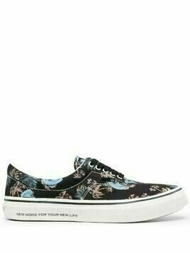 UNDERCOVER floral print canvas sneakers - Black