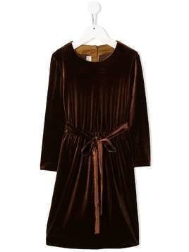 Caffe' D'orzo Mia velour tie-waist dress - Brown