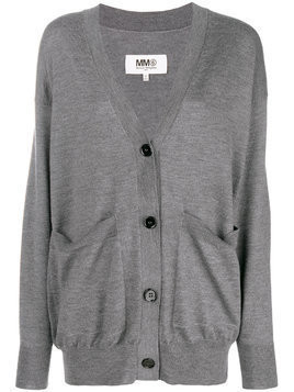 Mm6 Maison Margiela button front cardigan - Grey