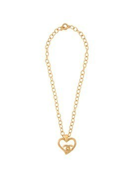 Chanel Vintage CHANEL Jumbo Heart Motif Necklace - Metallic