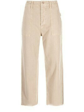 MOTHER cropped patch-pocket jeans - Neutrals