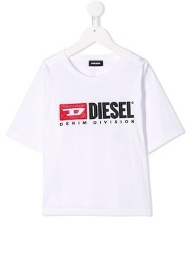 Diesel Kids logo patch T-shirt - White