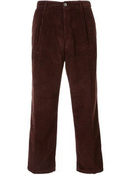 Haikure cropped corduroy chinos - Brown