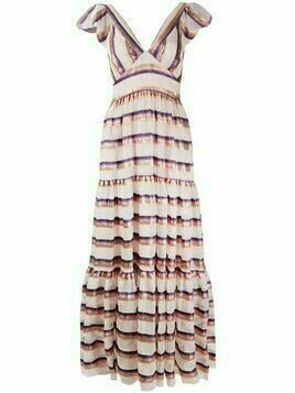 Temperley London Melina tiered maxi dress - PINK