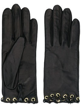 Manokhi leather gloves - Black