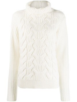 Helmut Lang Cable Knit wool sweater - White