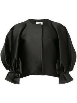 Isabel Sanchis jacket with dramatic puffsleeves with bow - Black