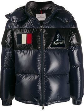 Moncler Gary short quilted puffer jacket - Blue