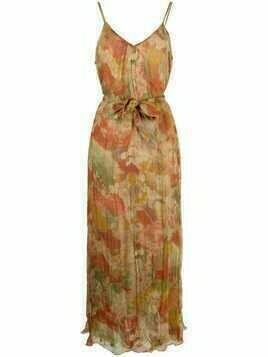 Mes Demoiselles abstract-print long dress - Neutrals