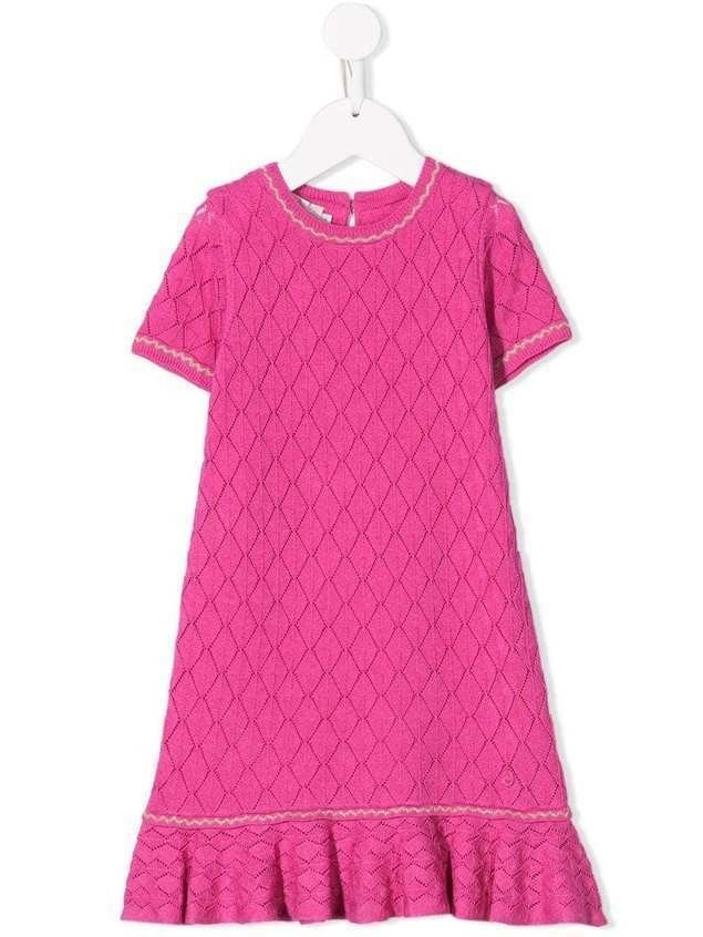 Baby Dior knitted diamond dress - PINK