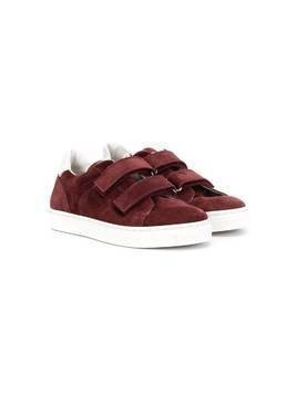 BRUNELLO CUCINELLI KIDS touch-strap sneakers - Red