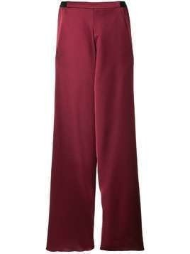 Christopher Esber Bias contrast waistband trousers - Red