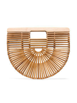 Cult Gaia brown Ark Small bamboo Clutch Bag - Nude & Neutrals