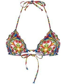 Mc2 Saint Barth printed bikini top - Multicolour