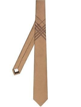 Burberry check jacquard tie - Brown
