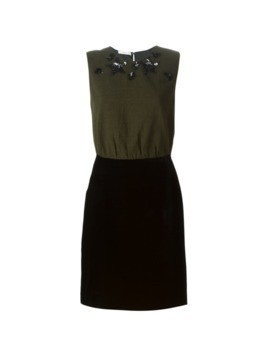 Prada Vintage embellished two piece dress - Green