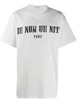 Ih Nom Uh Nit printed logo oversized T-shirt - White