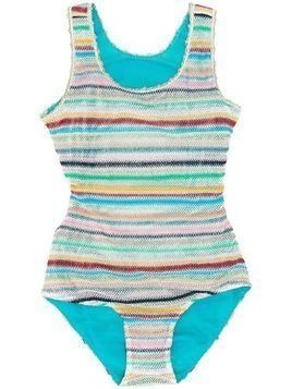 Missoni Kids striped one piece swimsuit - Blue