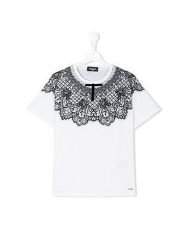 Dsquared2 Kids teen printed T-shirt - White
