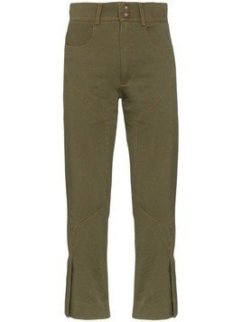 Delada slim-leg panelled trousers - Green