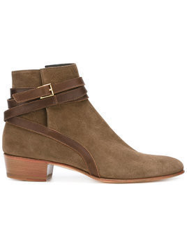 Louis Leeman buckled boots - Brown