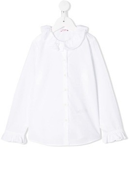 Il Gufo ruffled collar blouse - White