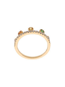 Khai Khai Rainbow Crown ring - Metallic